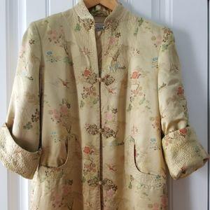 VTG Silk Satin Long Dressing Gown Costume (Sz-S)